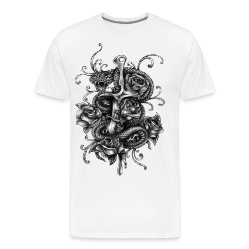 dagger_and_snake - Männer Premium T-Shirt