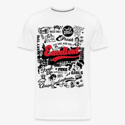 excellent retro full page xl black PART01 png - T-shirt Premium Homme