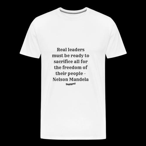 Mandela qoutes - Herre premium T-shirt