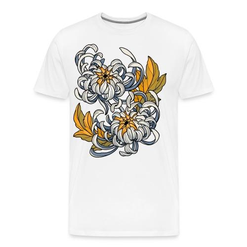 Chrysanthèmes enlacés - T-shirt Premium Homme