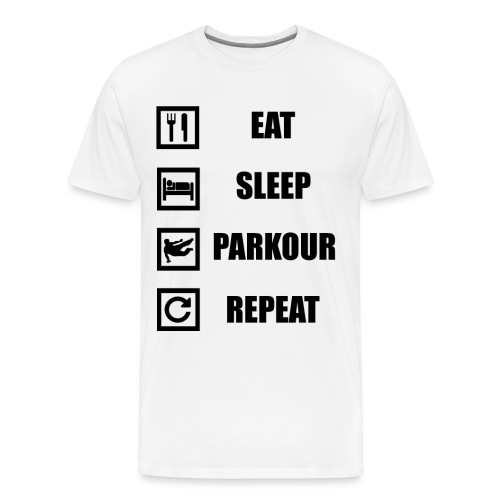 Eat Sleep Parkour_Repeat - Mannen Premium T-shirt