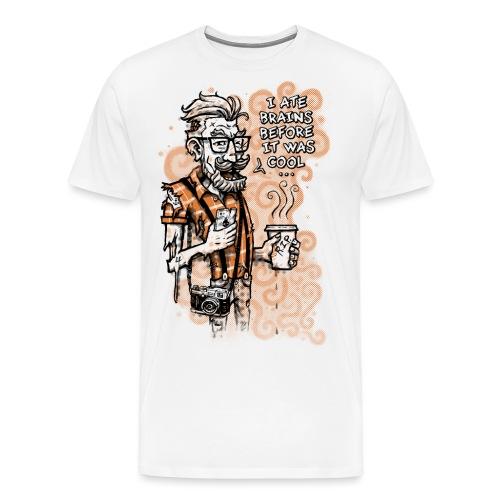 Zomb Hipster - Men's Premium T-Shirt