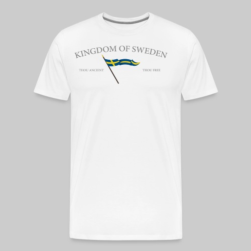 Swedish flag with text - Premium-T-shirt herr
