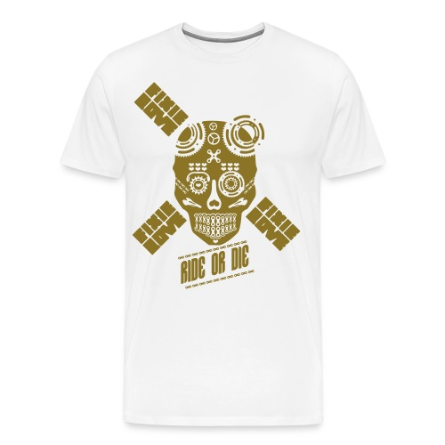 skull riding ride or die - T-shirt Premium Homme