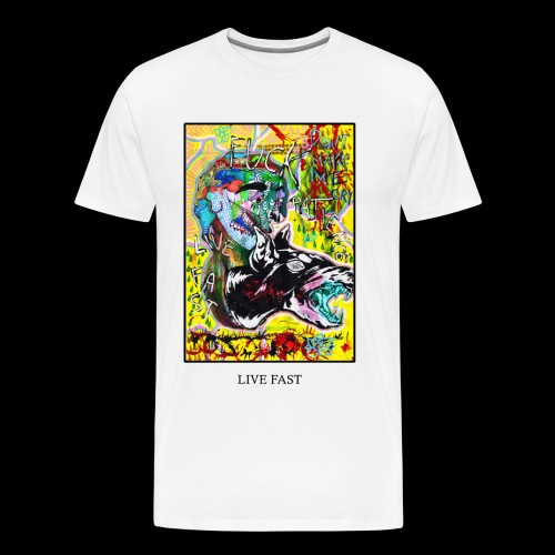 LIVE FAST - Maglietta Premium da uomo