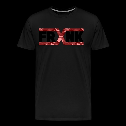 Red Camo 'FRXNK' Logo - Men's Premium T-Shirt
