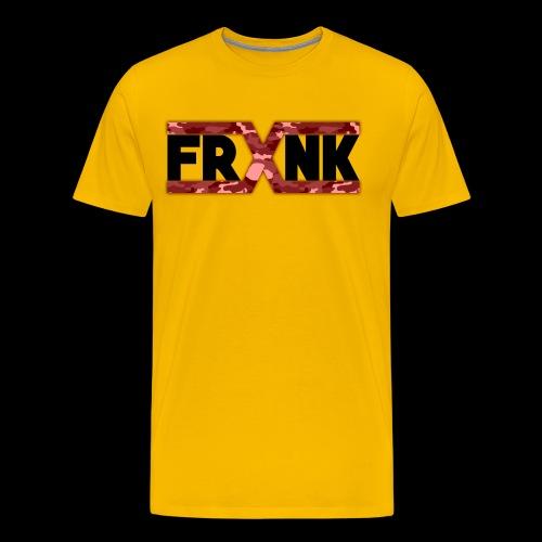 Red Camo 'FRXNK' Logo - Men's Premium T-Shirt