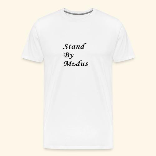 Schrift schwarz - Männer Premium T-Shirt