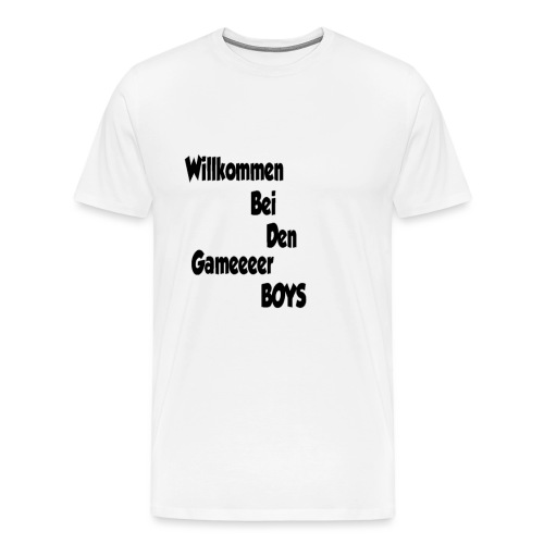 Begrüßung Schwarz - Männer Premium T-Shirt