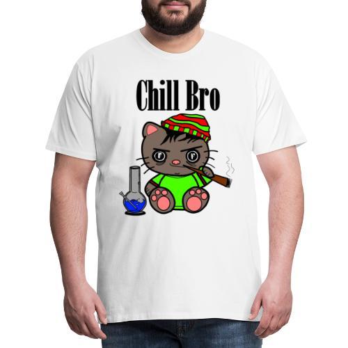 Chill Bro Katze - Männer Premium T-Shirt