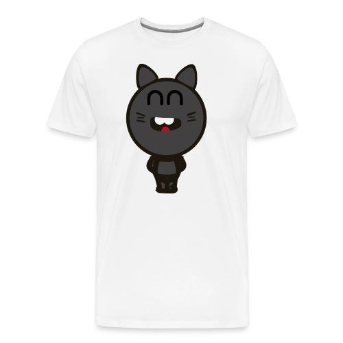 Logo happy cat - Camiseta premium hombre