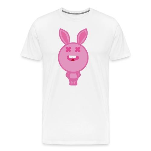Logo happy rabbit - Camiseta premium hombre