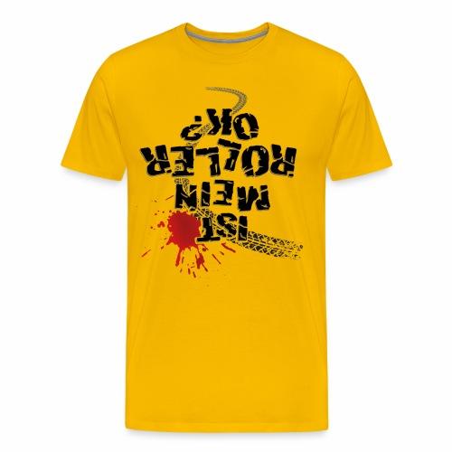 Ist mein Roller ok (schwarzer Text) - Men's Premium T-Shirt