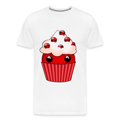 kawaii cupcake cranberry - Men's Premium T-Shirt