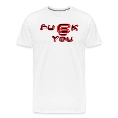 fucck_you_rouge_et_noir - T-shirt Premium Homme