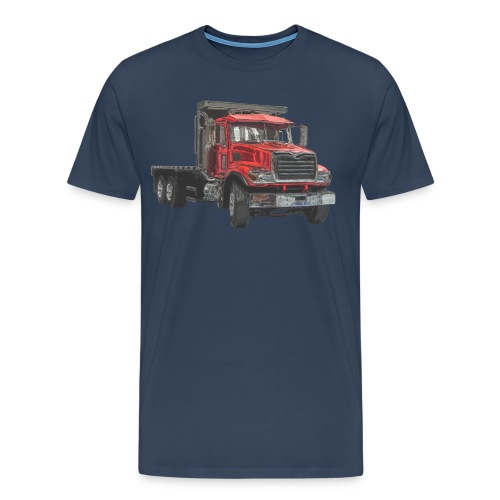 Flat Truck 3-axle - Red - Men's Premium T-Shirt