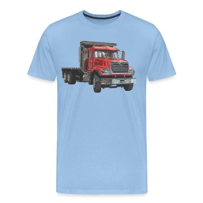 Flat Truck 3-axle - Red