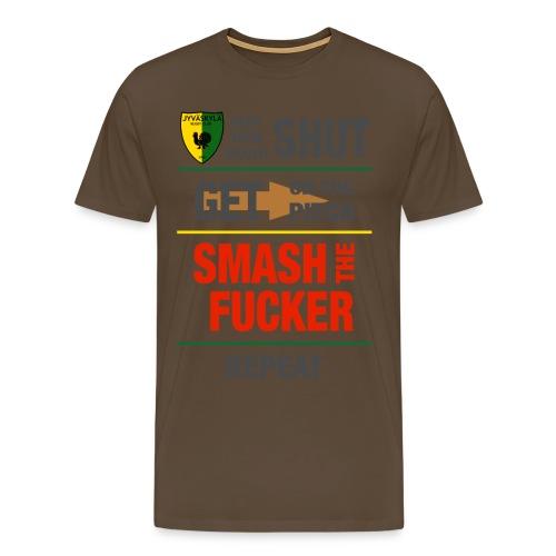 JRC Smash Grey - Miesten premium t-paita