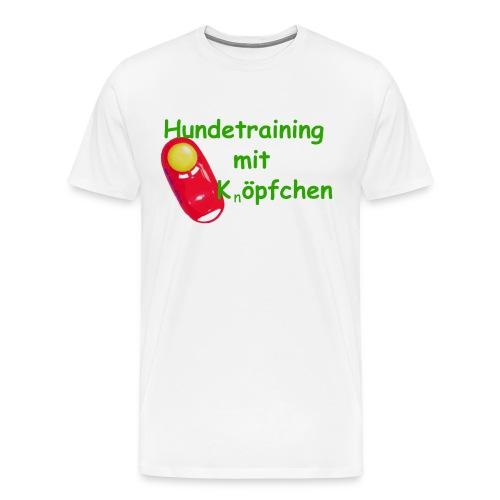 Hundetraining mit Knopfchen gif - Männer Premium T-Shirt