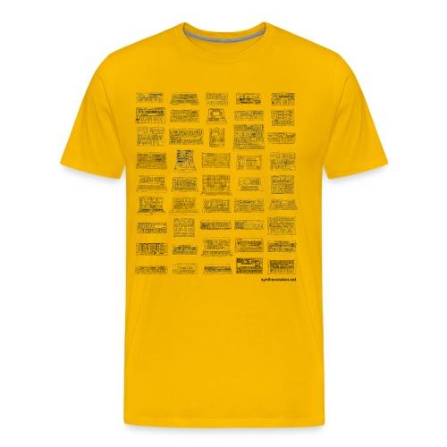 Synth Evolution T-shirt - White - Men's Premium T-Shirt