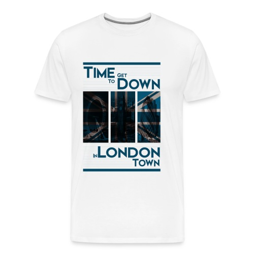 Down In.. (Blue) By HXG - Men's Premium T-Shirt