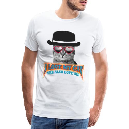Ich liebe meine Katze und meine Katze liebt mich - Männer Premium T-Shirt