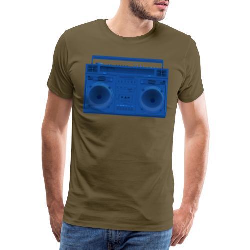 Bestes Stereo blau Design online - Männer Premium T-Shirt