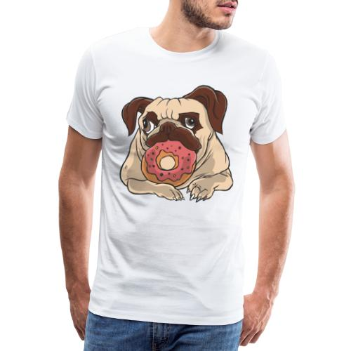 Beste Hund Hunde donut Mops - Männer Premium T-Shirt