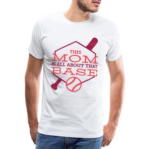 Bestes Baseball Mamma Design - Männer Premium T-Shirt