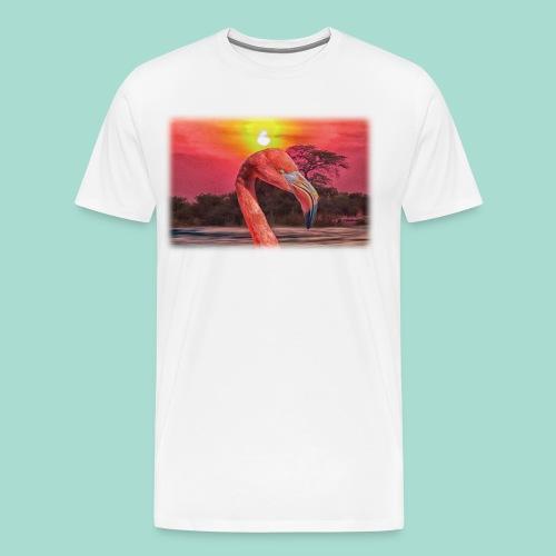 Rosa Flamingo - Männer Premium T-Shirt