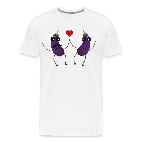 Aubergines qui s'aiment - T-shirt Premium Homme