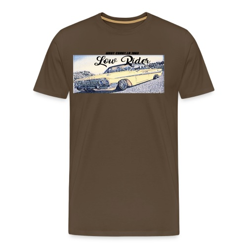 Lowrider impala 1963 vato loco west coast tshirt - Men's Premium T-Shirt