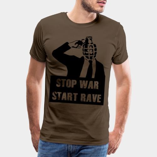 STOP WAR - START RAVE - Männer Premium T-Shirt