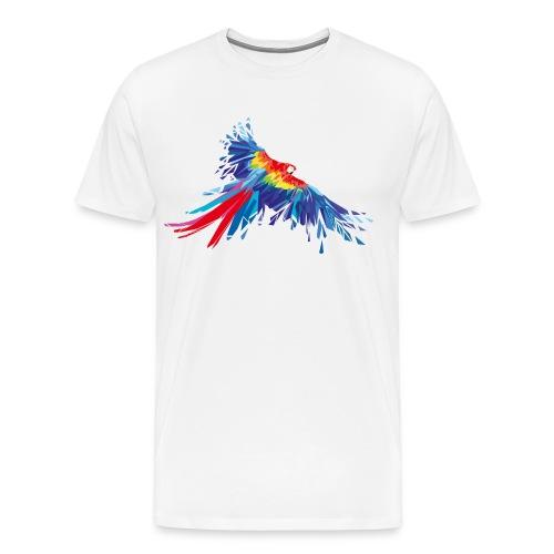 Papagei Federn Aras Vogel Vögel Flügel parrot bird - Männer Premium T-Shirt