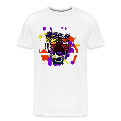 Tiger Splatter Motive - Men's Premium T-Shirt