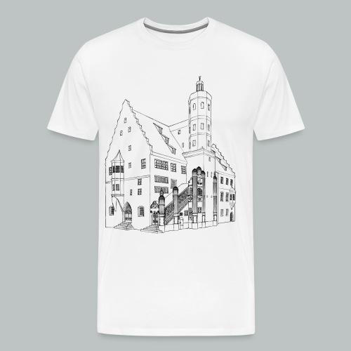 Nördlingen T-Shirt Rathaus schwarz - Männer Premium T-Shirt