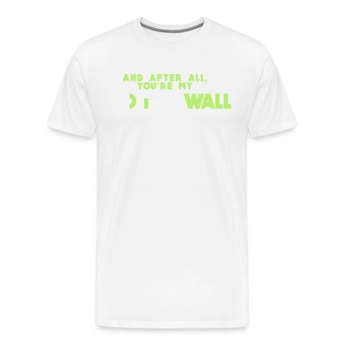 #GreenWhiteWonderwall - Männer Premium T-Shirt