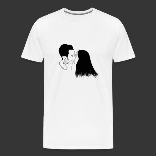 Outline Tumblr Kiss - Maglietta Premium da uomo