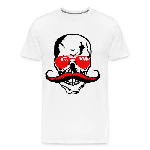 tete de mort crane moustache skull moustachu fanta - T-shirt Premium Homme
