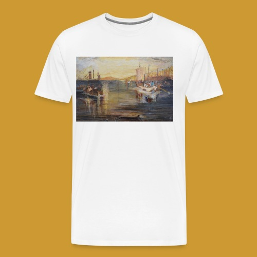 White Fishing - Mark Noble Art - Men's Premium T-Shirt