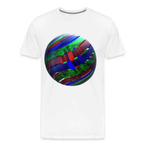 RGB Nested Ribbon Spheres - Men's Premium T-Shirt