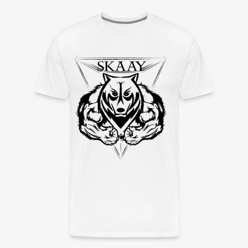 skaay logo black schottdesign png - Männer Premium T-Shirt