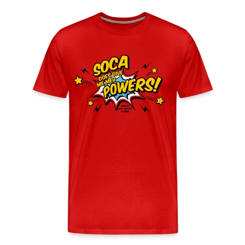 Soca Powers red png - Männer Premium T-Shirt