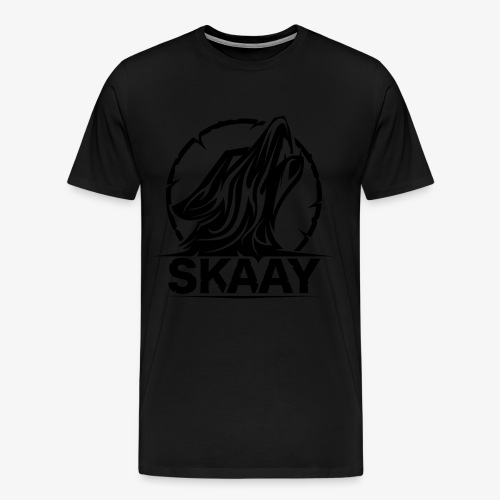 Skaay Logo Schwarz GeniyArts png - Männer Premium T-Shirt