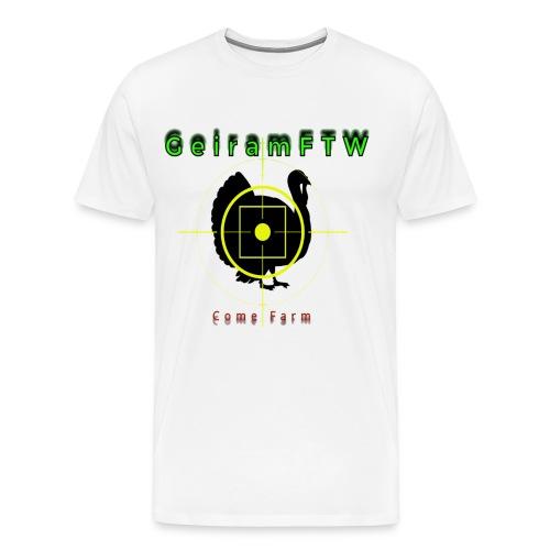 geirhøyop png - Premium T-skjorte for menn