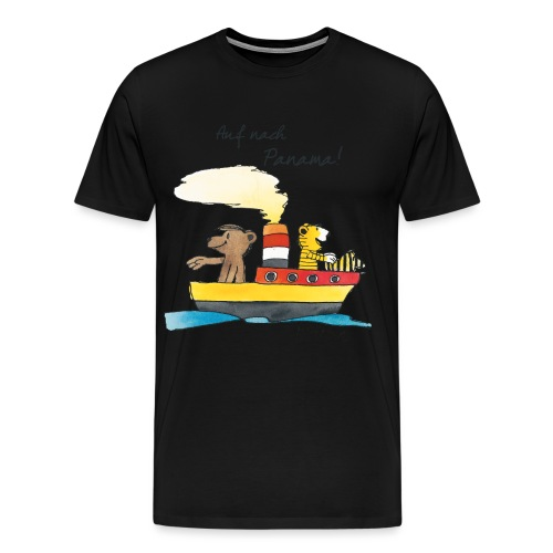 Janosch Tiger und Bären schippern nach Panama - Männer Premium T-Shirt