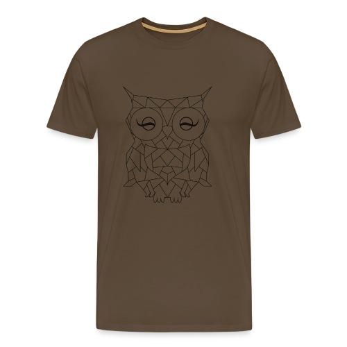 Geometric OWL - T-shirt Premium Homme