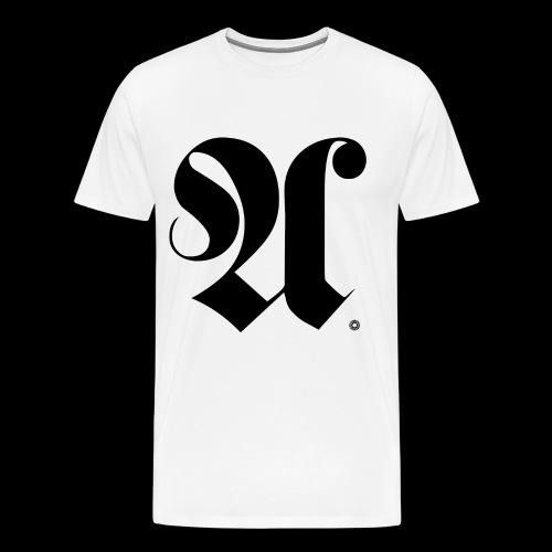 INITIAL x A x KUGELLAGER x SCHWARZ - Männer Premium T-Shirt