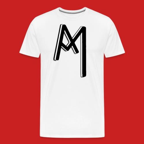 Monogram 3D Black png - Männer Premium T-Shirt