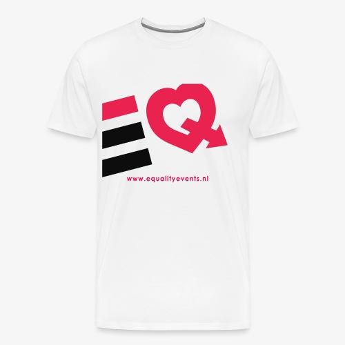 EQ schuin logo zwart - Mannen Premium T-shirt
